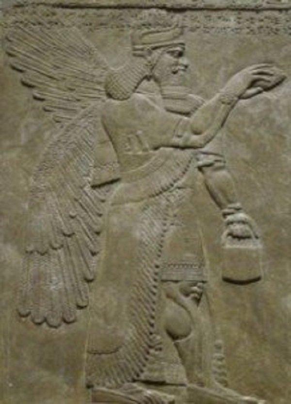 el estraño bolso de los dioses - diferentes representaciones Sumerias utilizando el mismo patrón