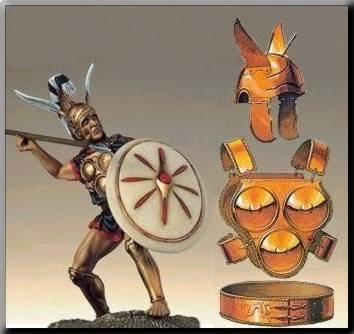 Los guerreros samnitas se protegían la zona del pecho con la armadura de discos