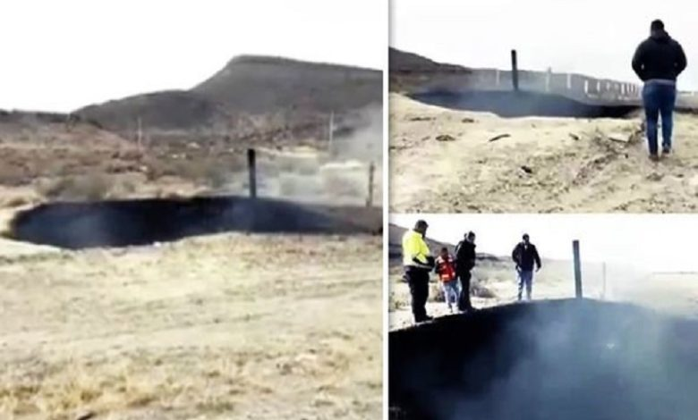El misterio de un cráter humeante en México