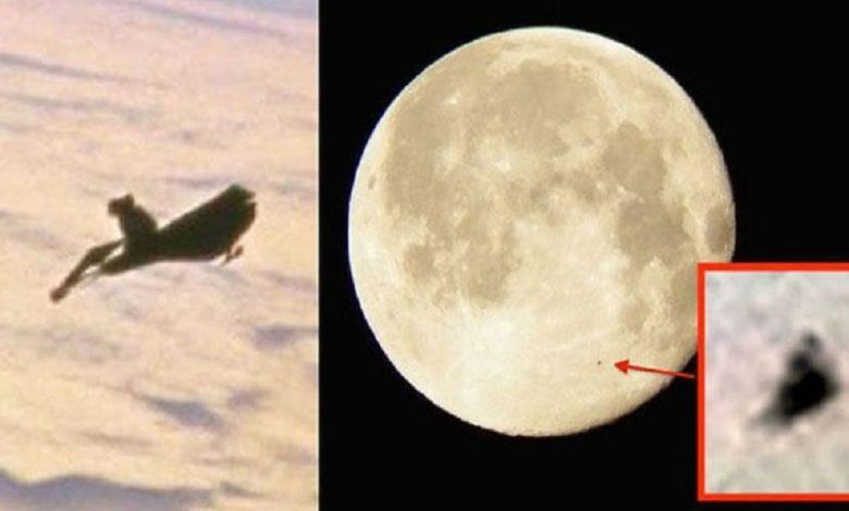 OVNI alienígena encontrado en imágenes de la NASA orbitando a la Luna