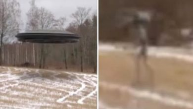 Photo of Video viral falso sobre un extraterrestre subiendo a un ovni