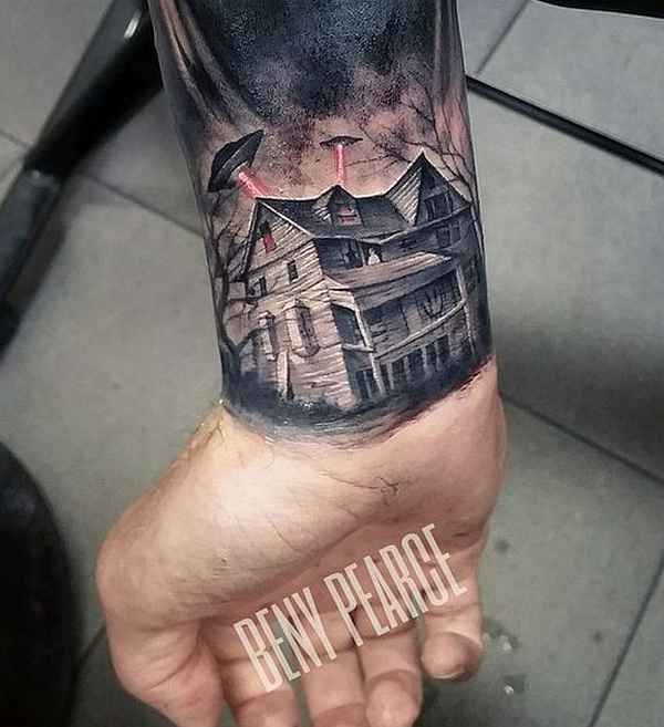 Ataques de Ovnis a casas - tatuajes de platillos voladores