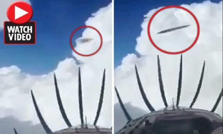 Un piloto filmó a dos ovnis que pasaron frente a su avión en pleno vuelo