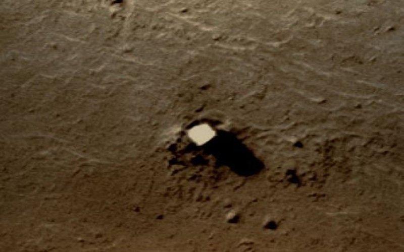 La foto de Phobos la Luna de Marte y su Base extraterrestres