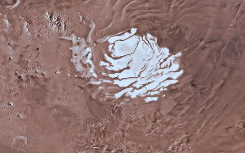 agua en el planeta rojo