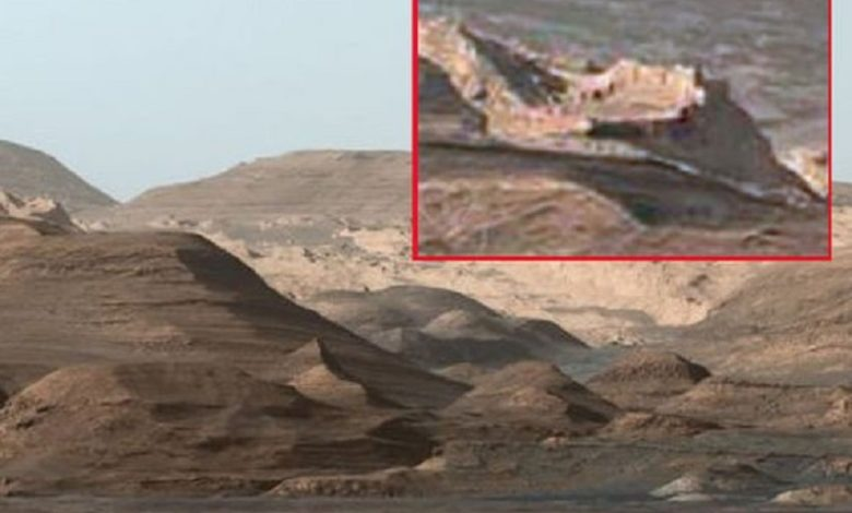 ciudad amurallada encontrada en Marte