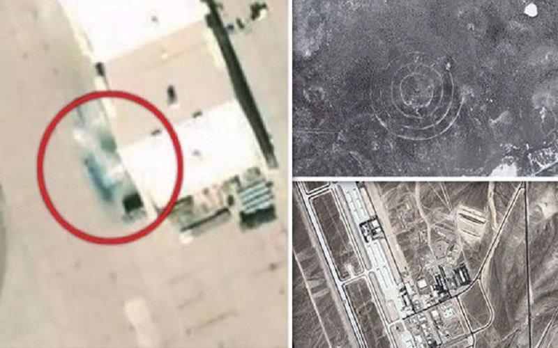 Misteriosa aeronave en la base secreta de EE.UU.