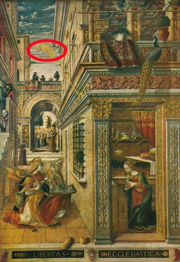 Pintura del siglo XV es la prueba de la visita de los OVNIs