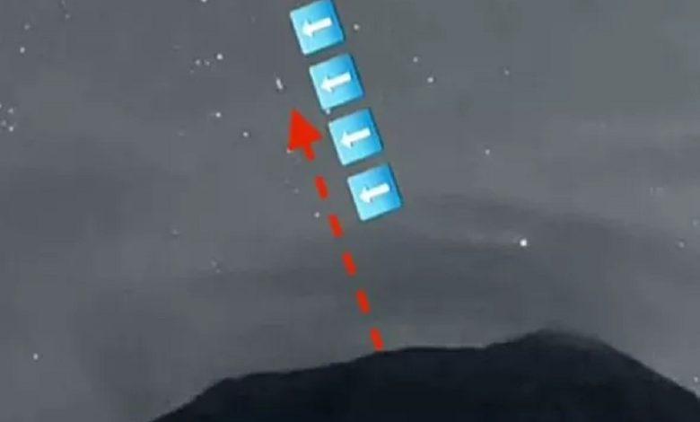 Avistamiento de OVNIs en el volcán Popocatépetl