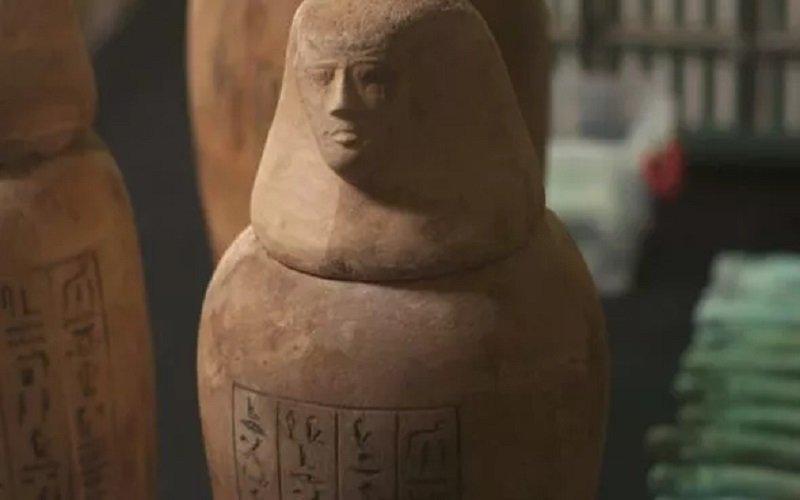 bajillas encontradas en la Antigua funeraria egipcia