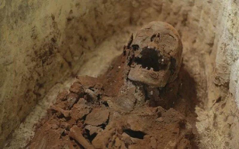 momia encontrada en la Antigua funeraria