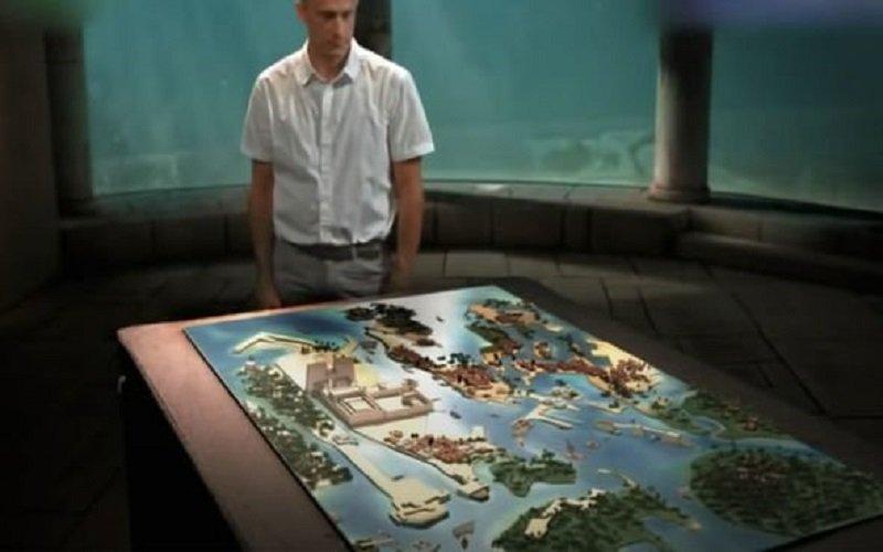 mapa de como era la ciudad hundida del faraon en egipto