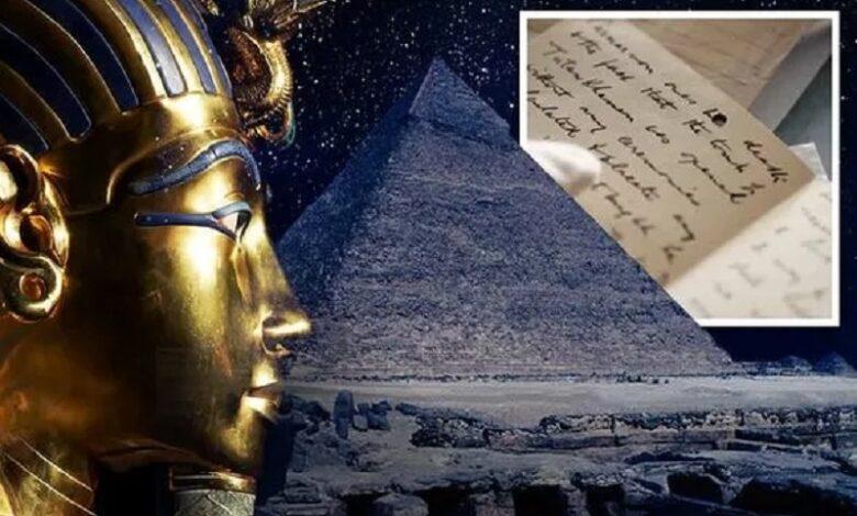 La maldición de los faraones de Egipto está resuelta La carta de Tutankamón muestra cómo satisfacer a los espíritus