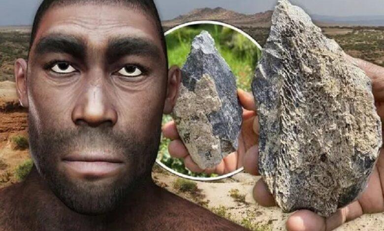 hacha de mano de Homo erectus