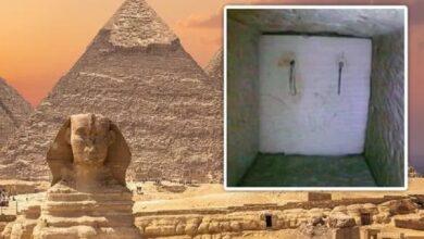 Puertas secretas en el interior de la Gran Pirámide